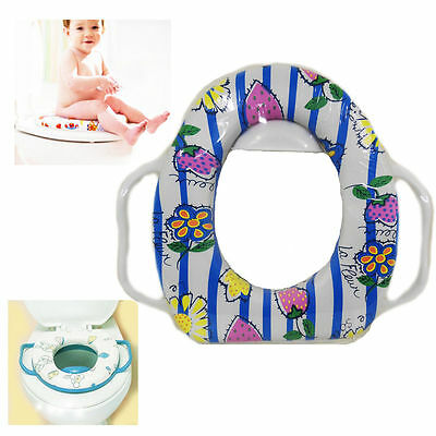 Baby Toddler Potty Toilet Training Seat With Handles Padded