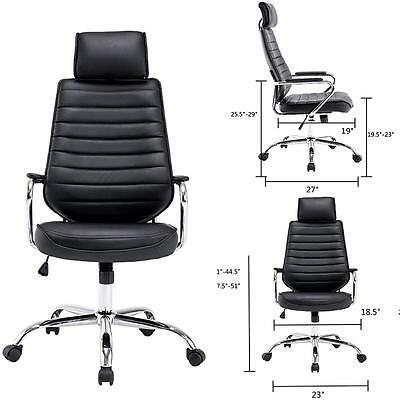 New PU Leather High Back Executive Computer Desk Task Office Chair Swivel Chair