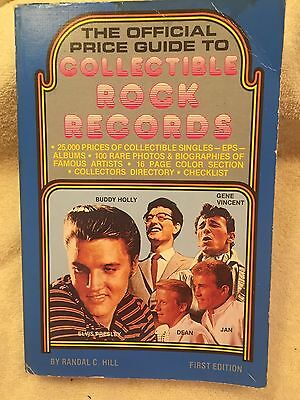 """""""The official Price Guide to Collectible Rock Records""""-1st Ed.-Randal C. Hill-EX"""