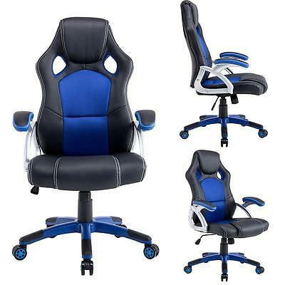 Executive Racing Office Chair PU Leather High Back Swivel Computer Desk Chair
