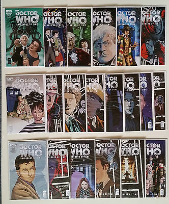 Lot of 20 Doctor Who Prisoners of Time comics #1-12 IDW 2012 NM Various Covers