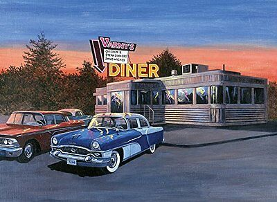 Royal & Langnickel 11 x 15 inch 50s Diner Pre-Printed Paint by Number Painting