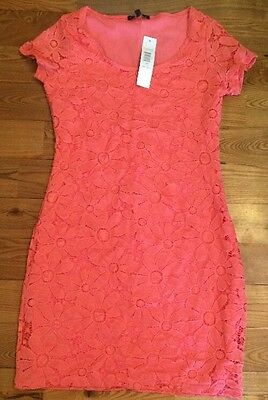 NWT Womens TIANA B. Coral Lace Overlay Short Sleeve Dress Size Small S $98