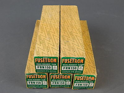 Buss Fusetron 150 Amp Time Delay Fuse (Lot of 5) FRN-150 - NEW Surplus!