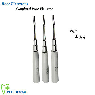 x3 Dental Surgical Tooth Extraction Coupland Elevators Root Extracting Tools New