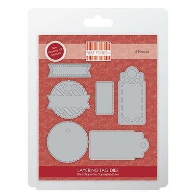 First Edition Layering Tags Christmas Papercraft Cutting Die Set FEDIE135X16