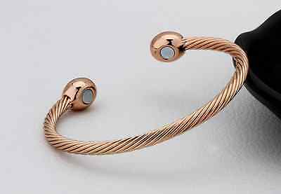 Healing Copper Magnetic Therapy Bracelet Bangle Arthritis Pain Relief Twisted