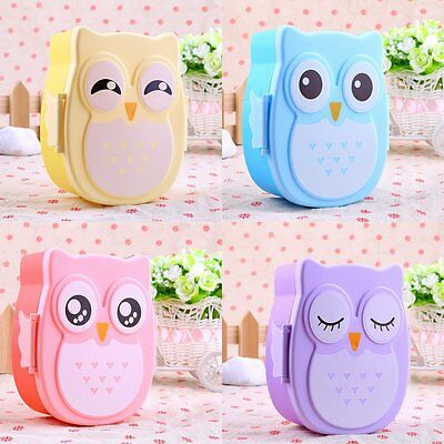 1050ML Owl Lunch Box Bento food-safe Plastic Food Picnic Container Portable LC