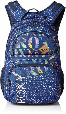 ROXY Shadow Dream Large Poly Backpack Laptop Sleeve Womens Girls School Bag NEW