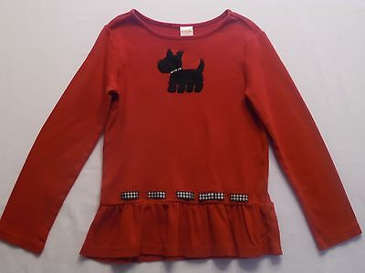 Gymboree NWT Red HOLIDAY FRIENDS SCOTTY DOG RUFF BEING CUTE DRESS TOP SHIRT 5T