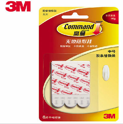 3M Command Poster Strips Damage Free Picture / Poster Hanging/Frame S M L