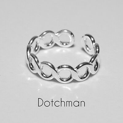 925 Sterling Adjustable Silver Circles Toe Ring