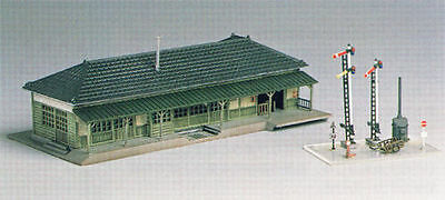 NIB Greenmax No.2128 Country Station Building N Scale Unassembled Structure Kit