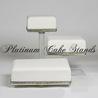 3 Tier Cascade Wedding Cake Stand (Style R300)