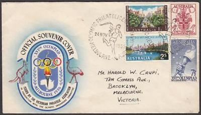 Australia 1956 Olympic Games Souvenir Cover with Olympic Games set of four (4)