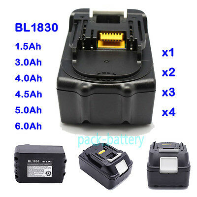 18V 1.5Ah~6.0Ah Battery Lithium Ion For Makita BL1830 BL1840 LXT Replacement New