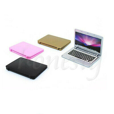 1/12 Dollhouse Model Laptop Computer Notebook Miniature Accessories Gift New