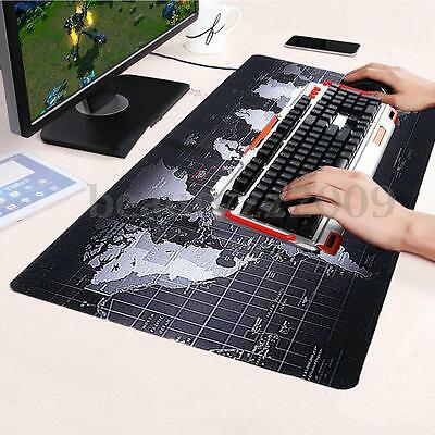 Large Non-Slip World Map Gaming Mouse Pad Mat For PC Laptop Computer Keyboard