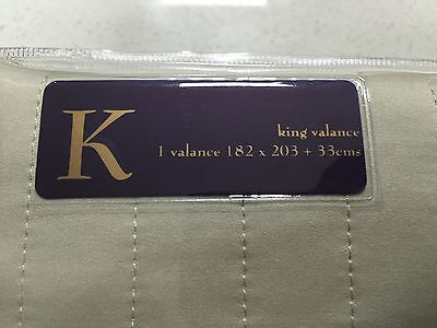 Brand New Private Collection Hampton Linen King Bed Valance
