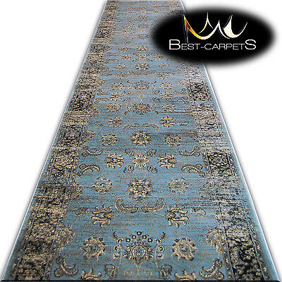 Thick & Soft Hall Runner JASMIN width 80-120cm extra long stairs RUGS antique