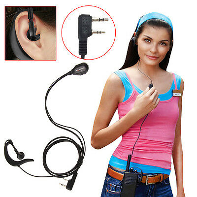2 Pin PTT MIC Covert Acoustic In-ear Earpiece Headset for KENWOOD TYT HYT Radio