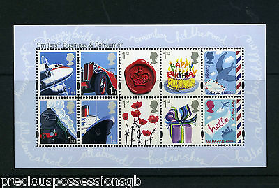 Gb Mnh Stamp Sheet 2010 Smilers Business & Consumers Sg Ms3024 Umm