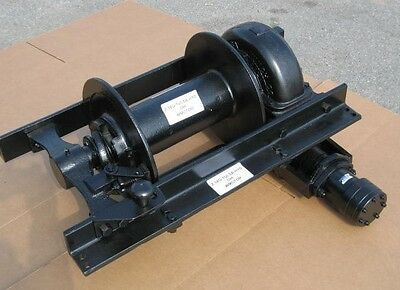 Tulsa Hydraulic WINCH Assy 18G, 20,000 Pounds Heavy Duty Military Truck Parts
