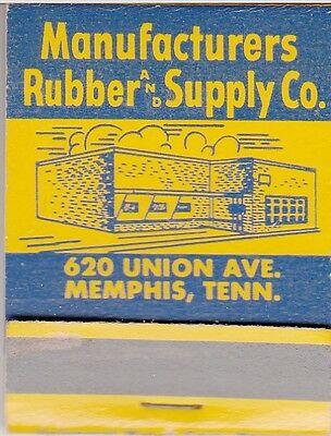 1950's Full Matchbook - MANUFACTURERS RUBBER & SUPPLY CO - MEMPHIS TENNESSEE TN