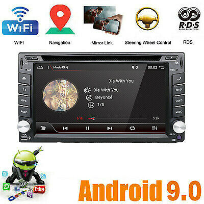 "AU STOCK 7"" Android 4.4 2 Din 3G WIFI Car Stereo Radio GPS SAT Navi Navigation"