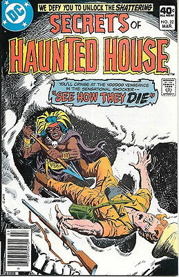 Secrets of Haunted House Comic Book #22, DC Comics 1980 VERY FINE/NEAR MINT