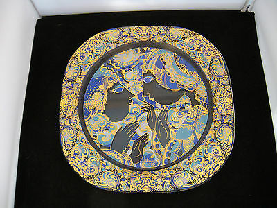 Rosenthal Bjorn Wiinblad Decorative Glass Plate - Boxed - Signed. Beautiful.