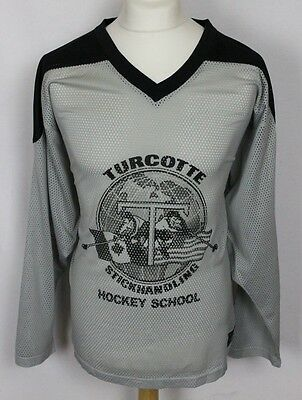 Vintage Turcotte Hockey School Ice Hockey Jersey Mens Large Dangle Athletic