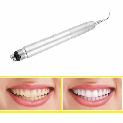 Dental Ultrasonic Air Perio Scaler Handpiece Hygienist 4-Holes with 3 Tips FG