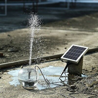 Solar Panel Submersible Water Pump Storage Battery Backup w/Timer for Pool FG