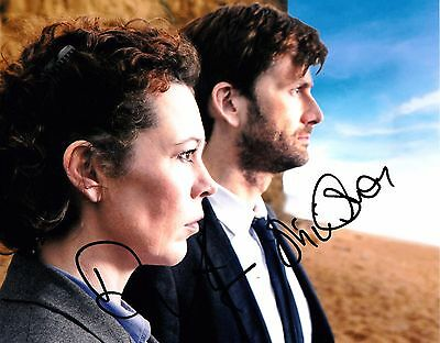 DAVID TENNANT/OLIVIA COLMAN SIGNED 10x8 PHOTO - Broadchurch
