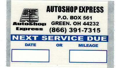 Personalized Logo Oil Change Stickers 1000/Roll Orl10003