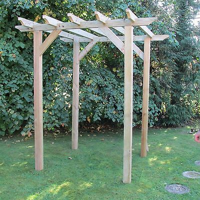 3.6m x 1.8m  NOTCHED Wooden Garden Pergola NEW - various post lengths available