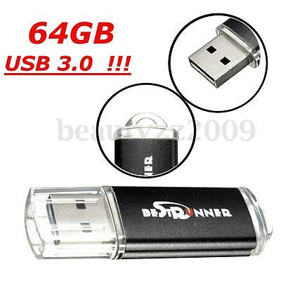 BESTRUNNER 64GB gb Upgrated USB 3.0  Flash Drive Memory Stick Gift LOT Full Test