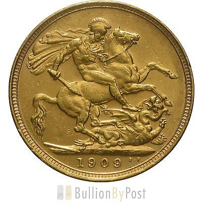 1909 Gold Sovereign - King Edward VII - S