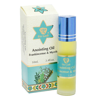 Consecrated Anointing Oil Frankincense & Myrrh Ein Gedi Jerusalem 0.34fl.oz/10ml