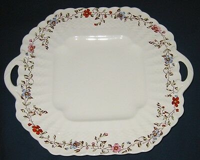 Spode - Wicker Dale 2/4088 - Square Handled Cake Plate