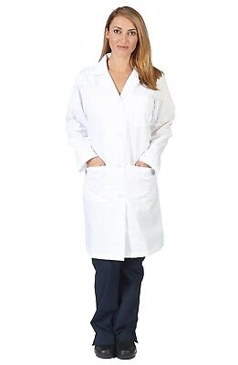 Natural Uniforms Unisex 40 Inch Lab Coat SMALL White
