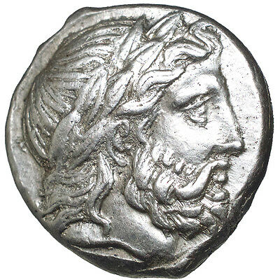 Macedonian Kingdom.    PHILIP II.  AR tetradrachm.   359-336 B.C..  195