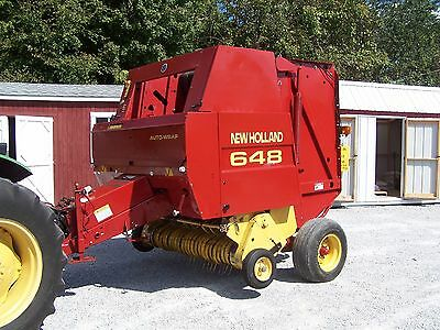 New Holland 648 Round Baler (wide pickup) size 4x5, CAN SHIP @ $1.85 loaded mile