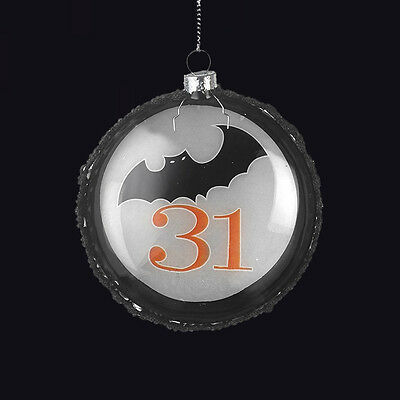 Heaven Sends Hanging Glass Bat Bauble. Halloween Decoration. 31St. Tree Decor.