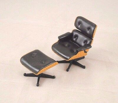Chair - Eames Lounge  1956 classic miniature S8000 1/12 scale