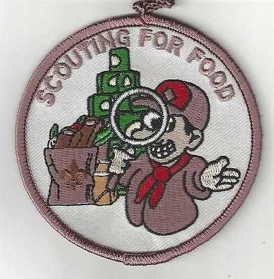 cUB Boy sCOUT Scouts SCOUTING FOR fOOD bROWN pATCH nEW