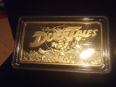 Extremely Rare! Walt Disney Ducktales Gold bar 24K Limited Edition 2000