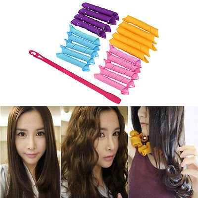 18PCS/Set 30cm Curl DIY Hair Curlers Tool Styling Spiral Circle Magic Rollers