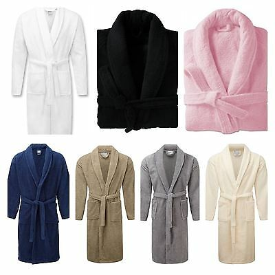 Mens & Womens 100% Egyption Cotton Terry Towelling Hooded Bath robe, Gown